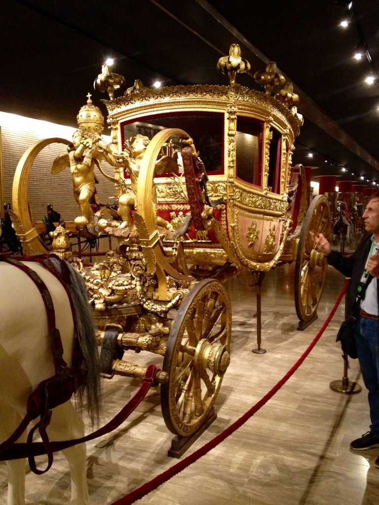 Pope's carriage (although I think Pope Francis would have something to say about this)