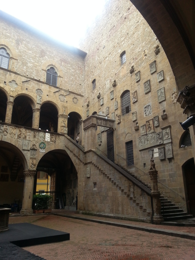 The inner courtyard of the Bargello