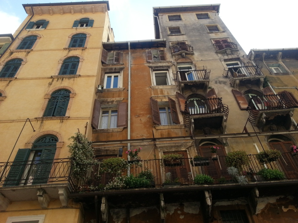 some gorgeous buildings in verona