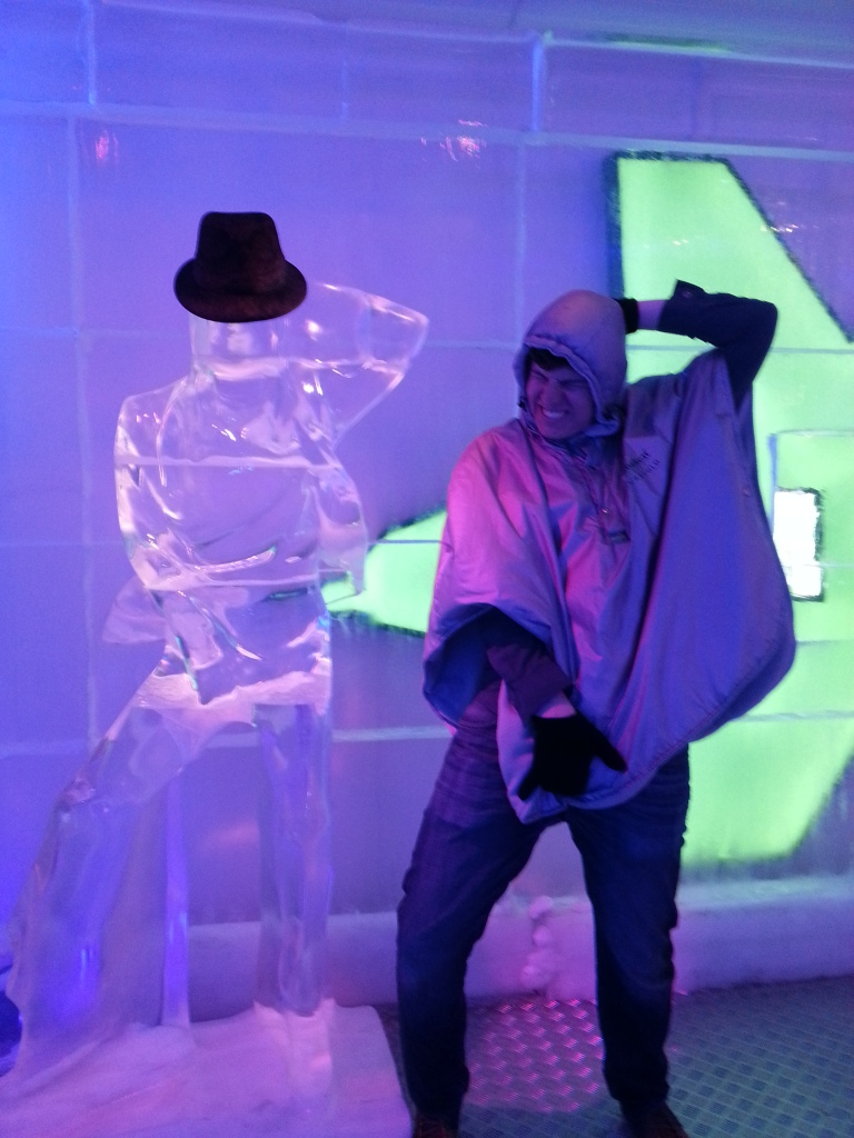 The ice bar, one of levels in Europe's largest dance club, found in Prague