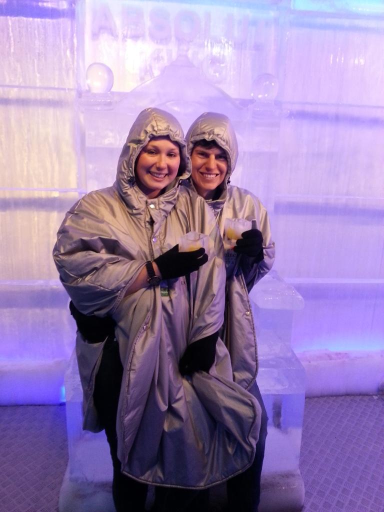 Jenny & I in the ice bar