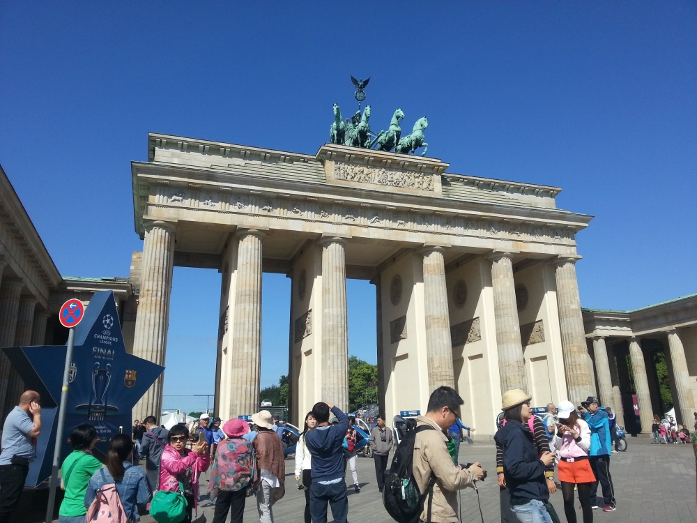 The Brandenburg Gate, perhaps Berlin's most recognisable symbol.