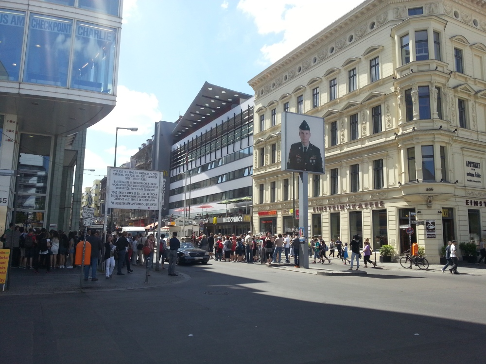 Checkpoint Charlie facing the West