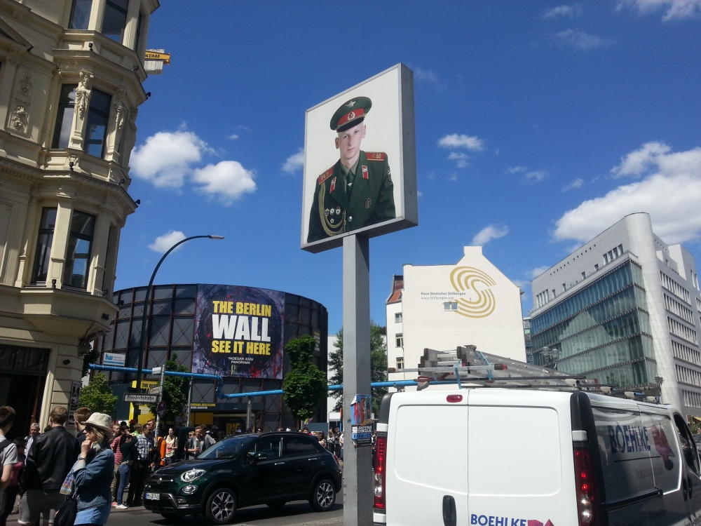Checkpoint Charlie facing the East