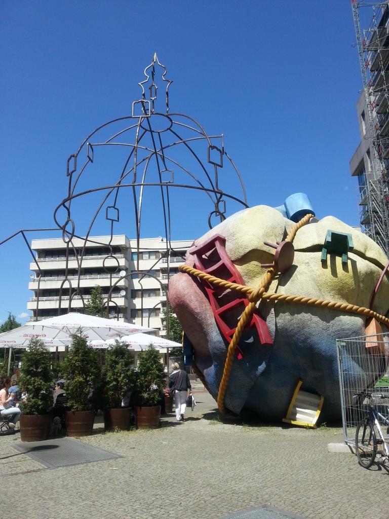 Art instalment on a backstreet of Berlin
