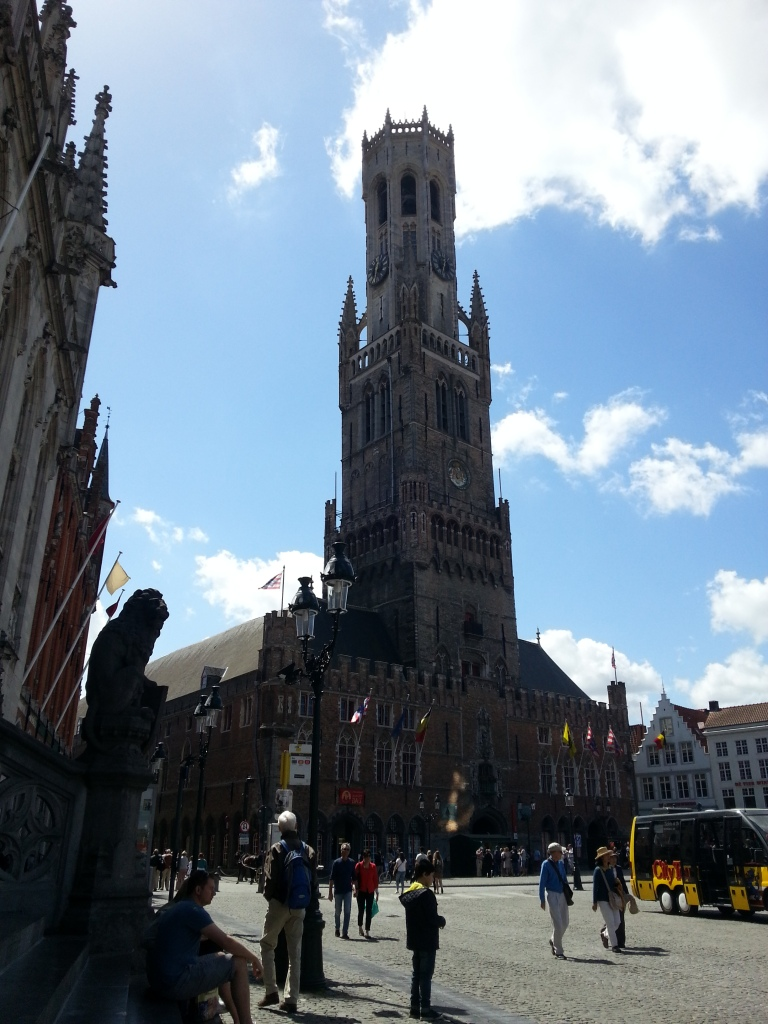 The bell tower in Bruge, made famous in the move 'In Bruge'