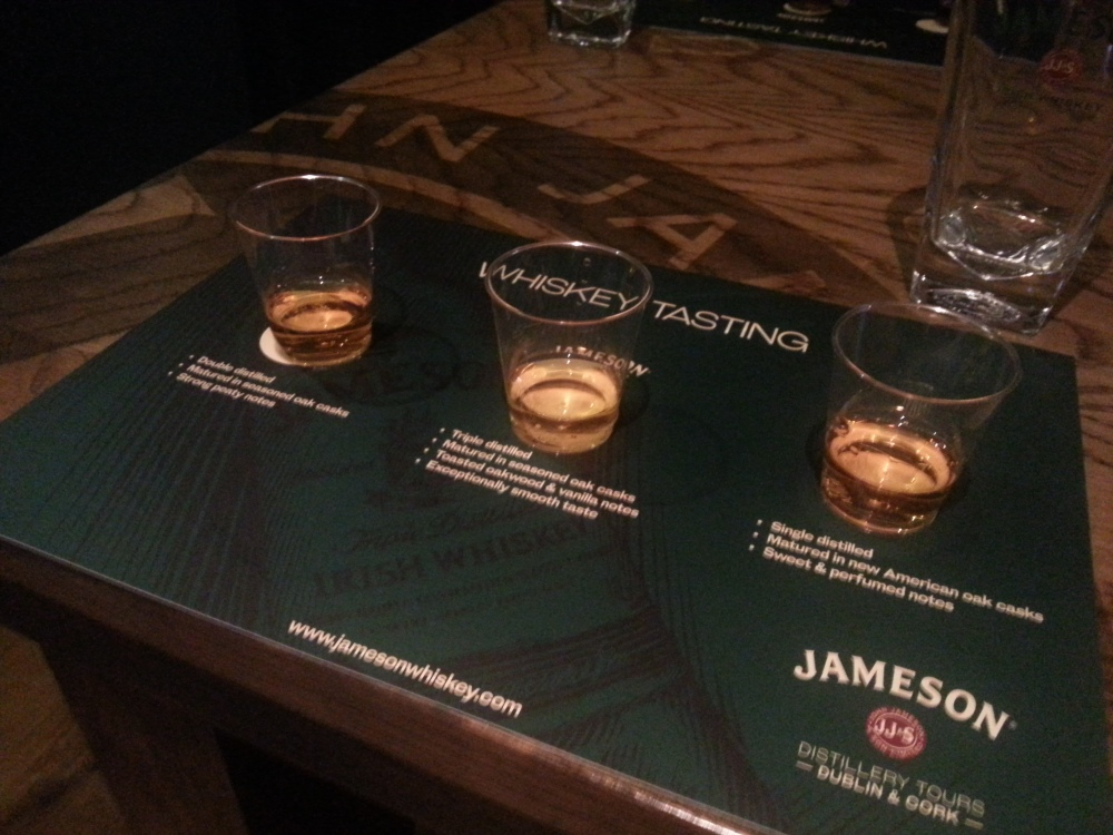 Wiskey Tasting at The Old Jameson Distillery