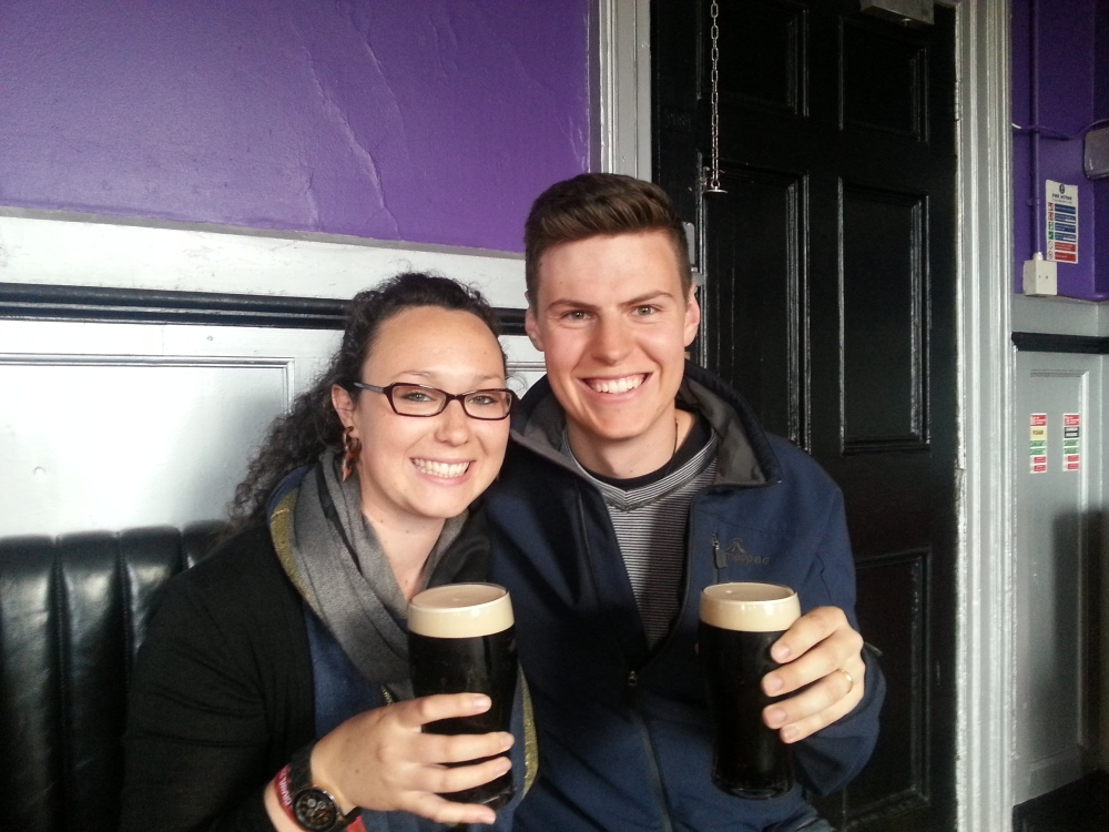 Our first ever Guiness @ The Workmans Club