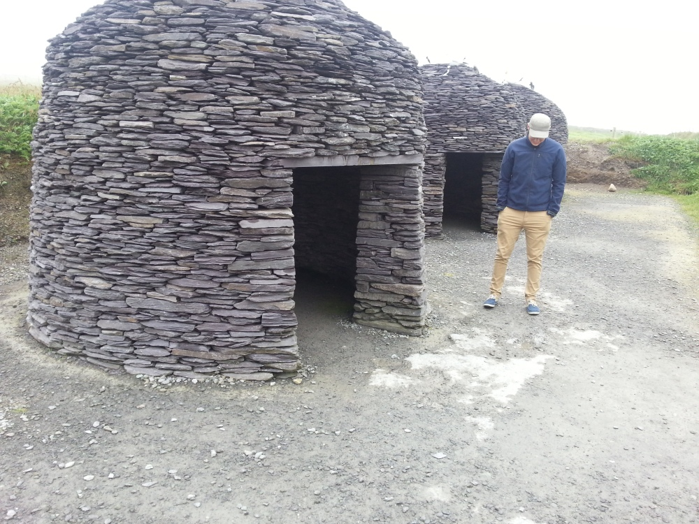 Dave realising that the beehive huts are actually just replicas