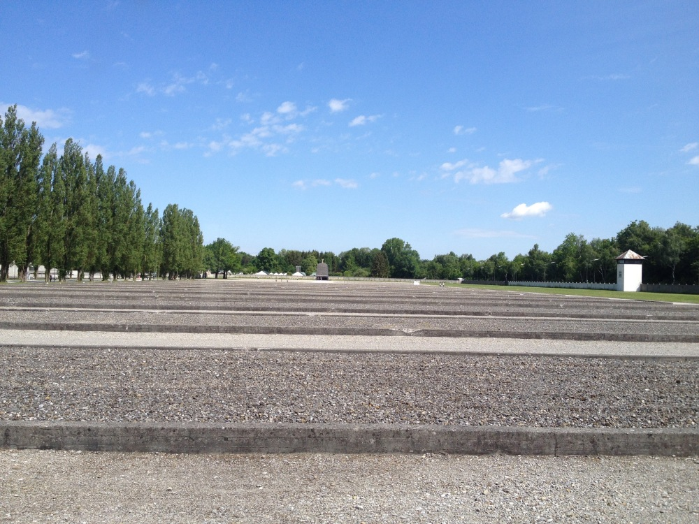 Each of these foundations represents another concentration camp barracks