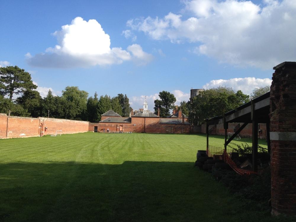 The walled garden behind Dolphin Court