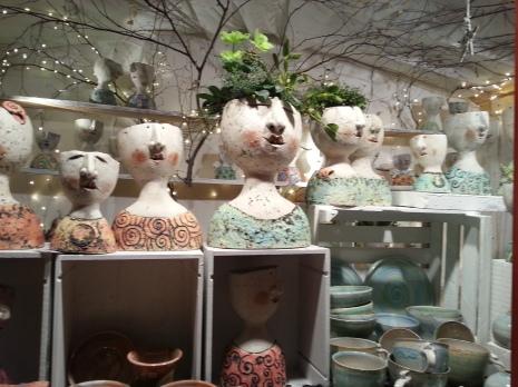 Funky pots at the handmade market