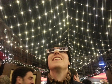 Testing out our special light-to-snowflake glasses from Europa Park