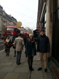 Checking out Regent Street with Johanna