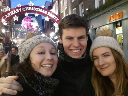 Our Friend Johanna joined us as we explored Christmassy London