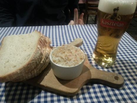 Traditional lard spread on bread