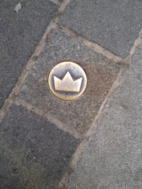 The crowns mark the royal path through town