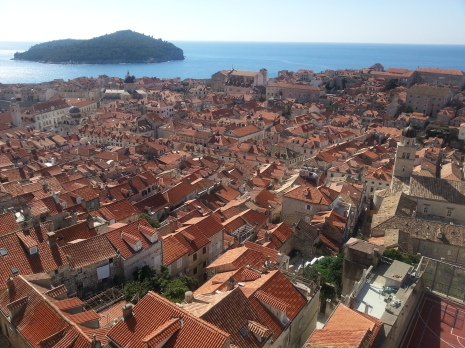 A sea of burnt orange, Dubrovnik