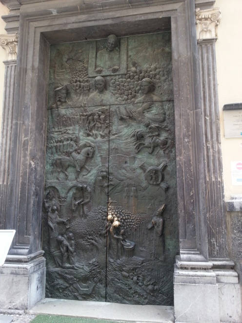 Amazing Cathedral Door, Ljubljana